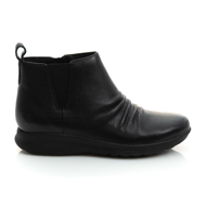 Clarks UN ADORN MID BLACK LEATHER 26136847