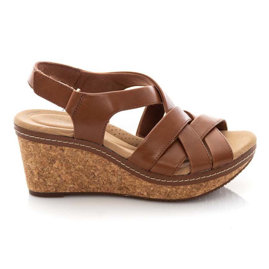 Clarks Annadel Rayna 26153718 Dark Tan Leather
